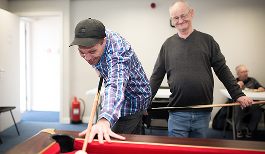 Image of service users playing pool