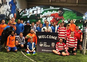 2018 People's FA Cup - semi finalists team photo