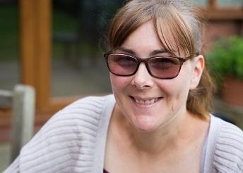 Female dark glasses