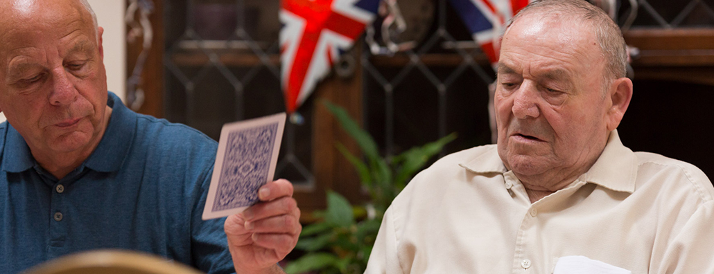 Image of service users playing cards