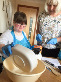 Image of service user baking