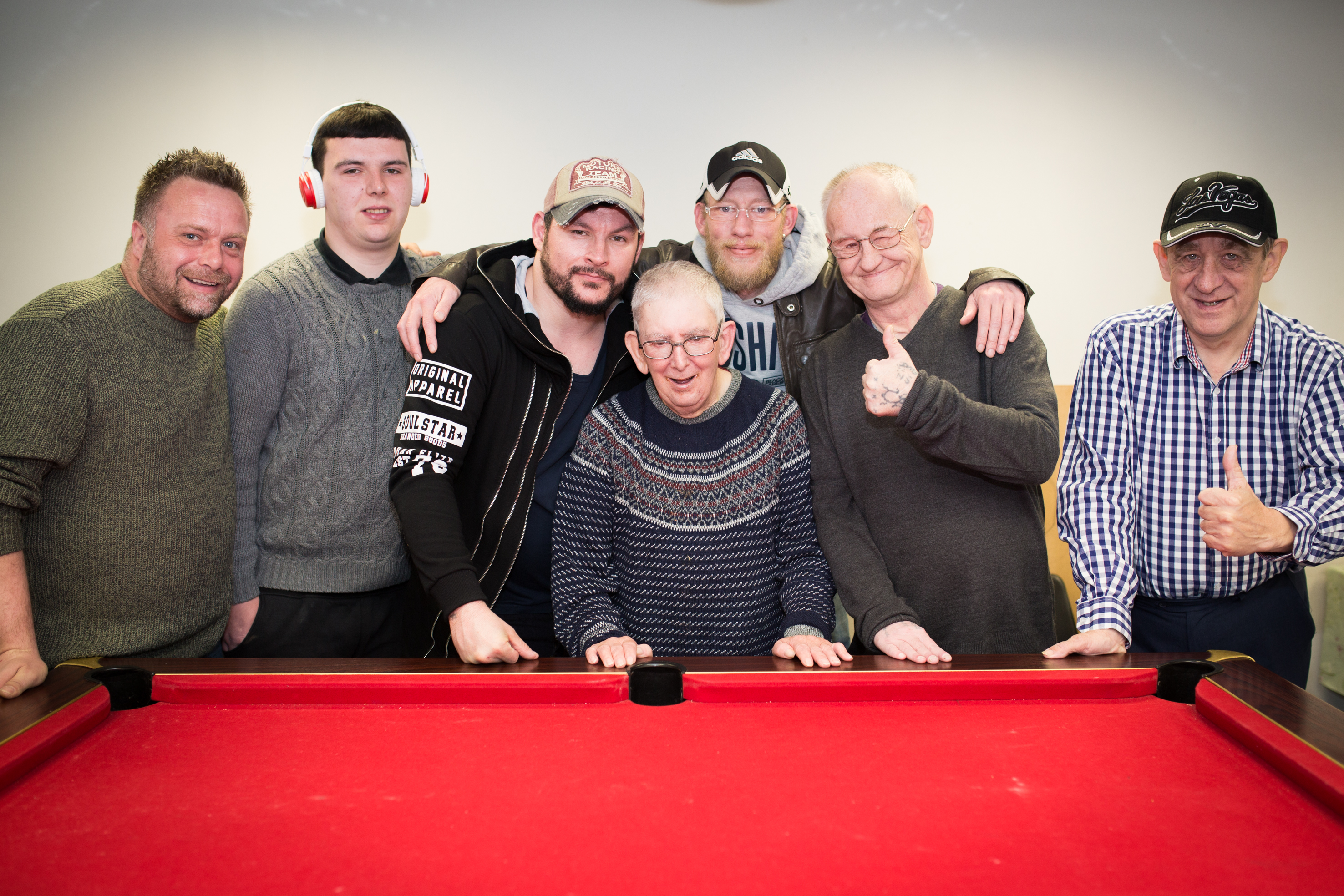Image of service users at pool table