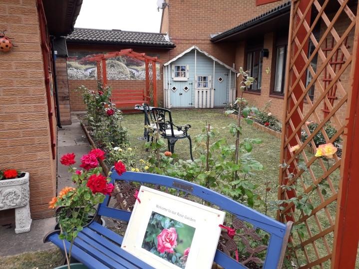 Rose garden, St Margaret's care home