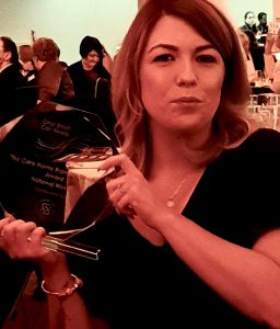 Stacey Orton winning Great British Care Award